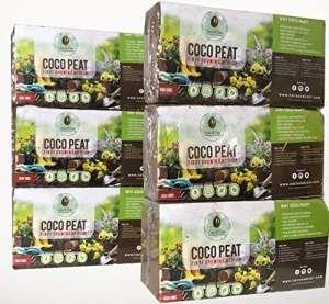 Coco & en fibre de coco 6x 650g (9L) | Bio | Fibre de noix de coco | 100% naturel | Reptile Friendly | Croissance Media | Coco de plantation Soil | Noix de coco | Compost de qualité premium Compressées en fibre de coco briquettes | de noix de coco en fibre de coco briques