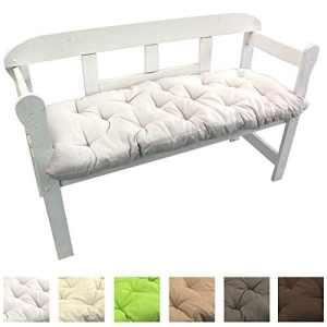 Coussin pour banc Uni de 8 cm d'épaisseur – Coussins matelassés confortables pour bancs, chaise longue ou balancelles de jardin , Couleur:Blanc, Taille:150 x 50 x 8 cm