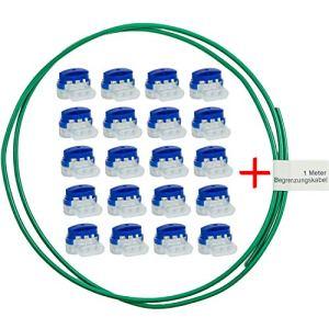 LoHaG Lot de 20 raccords de câbles dans une boîte pratique + câble de délimitation de 1 m – Kit de réparation – Idéal pour tondeuse à gazon robots de tondeuses rouges – Connecteurs étanches et résistants aux intempéries