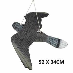 Multiware Aigle En Plastique Réaliste D'Épouvantail Anti Pigeon Oiseaux Et Nuisible Répulsif Pour Protection Des Plantes De Jardin