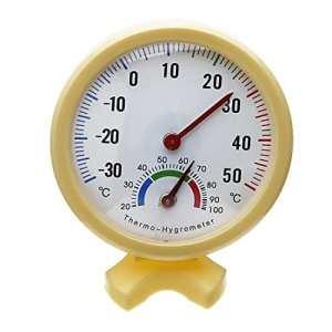 SODIAL(R) Thermomètre hygromètre d'extérieur/intérieur Jaune – jaune