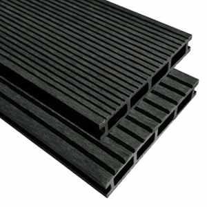 vidaXL Panneaux de terrasse WPC avec accessoires 40m² 2,2m Anthracite