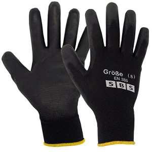 24paires SBS Gants de travail taille 8m Montage Gants, gants en nylon noir