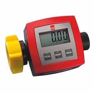 Compteur pour pompe vide-fûts électrique – compteur en PP, débit 5 – 90 l/min – pression max. 2 bars, précision ±1 % – compteur compteur pour liquides compteurs débitmètre débitmètres Compteur totalisateur pour pompe Compteurs totalisateurs pour pompes