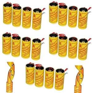 Lot de 20 rouleaux de papier tue-mouches, respectueux de l'environnement, non toxique