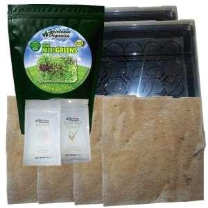 Organics d'antan OGM Complet Microgreens kit–Microgreen Graines de Tapis, Plateaux, DE Croissance, nutriments et Guide–Nourriture en Seulement 7Jours par Organics d'antan