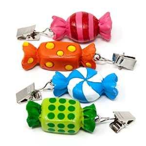 ToCi Poids de nappe bonbon, set (4/8/12 pièces) Pince nappe, Poids de nappe avec pince 8 Stück