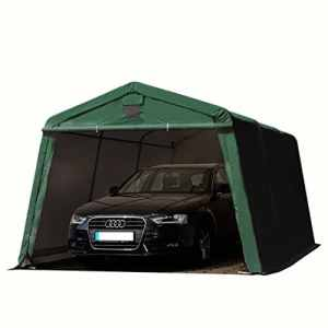 TOOLPORT Abri/Tente garage PREMIUM 3,3 x 4,8 m pour voiture et bateau – toile PVC 500 g/m² imperméable vert fonce