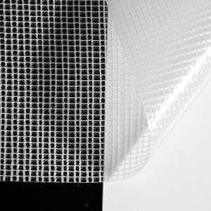 ANRO Grille Film Film de masquage Bâche Tissu d'Écran transparent, Transparent, 25 x 2,5 m