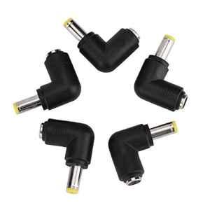 Aramox 5pcs 5.5×2.1mm Femelle À 5.5×1.7mm Mâle Angle Droit Connecteur Adaptateur Connecteur