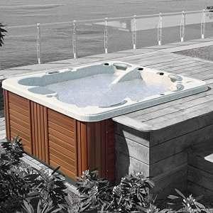 GRANDFORM Spa mini-piscine à 6places (2allongées, 4assises) avec jacuzzi–228x 228x 94 cm
