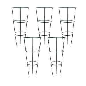 Lot de 5 supports coniques àanneaux Badass Sharks pour plantes de jardin 60 cm