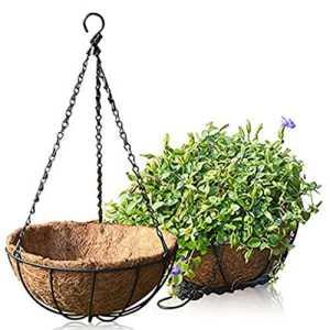 Namgiy Chaîne de suspension pour plantes Cintre à suspendre Chaîne Chaîne de pot de fleurs pour la maison de décoration de jardin Crochet 50cm