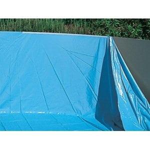Piscineo Piscine hors sol ronde Bleu 550 x 370 x 140 cm LI12185250-BF
