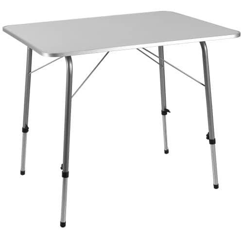 Table Pliante en Alu à hauteur réglable 80x60 cm Camping ...