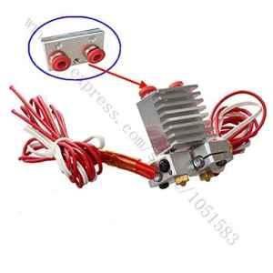 Bhpsu Chimaera extrudeuse avec câbles–Multi-extrusion V6à double tête extrudeuse Hotend, 0,2/0,3/0,4/0.5mm Buse en option, 1.75mm