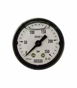 Manometre 40mm 0-250 bar fixation axial 1/8