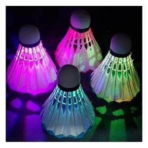 Sunnyshinee lumière LED de badminton Balle en mousse lumineux de badminton (Blanc)