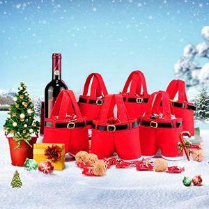 Wysgvazgv de Noël Candy Tote Sacs Enfants 6pcs, Enfant, décorations de Sacs Cadeau de Noël Candy Sacs de Bonbons Santa Treat Short Pantalon de Remplissage de Noël Mariage an Vacances de Noël