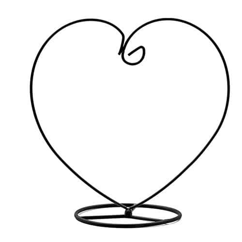 1x Plante Toruiwa Pieds de vase en verre à suspendre Cadre support de rack de fleurs plantes support de présentation en forme de cœur Fer Pot de fleurs étagère pour maison balcon fête Décoration Intérieur/extérieur 23cm