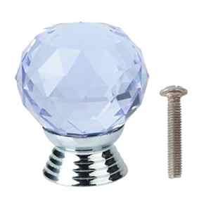 30mm K9 Cristal Bouton Poignée de Tiroir Cabinet Porte Placard Vitrine Armoire -Violet