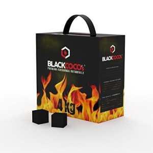 BLACKCOCO's Charbon naturel Premium à base de noix de coco pour narguilé & barbecue Charbon pour chicha Confection de 4kg