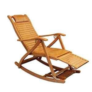 Chaises et fauteuils Chaise en bambou Chaise à bascule Fauteuil inclinable pour adulte Pause déjeuner pliante, Chaise à bascule Siège de repos sur dossier Patio extérieur pour personnes âgées Loisir