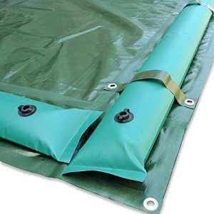 Couverture d'hiver avec tubes renforcés et bandes – pour piscine 12,5 x 25 m