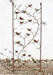 DanDiBo Support pour plantes grimpantes avec oiseaux 120705 Treillis en métal H-150cm L-50cm Support pour plantes grimpantes