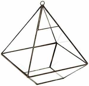 Dessus de table en verre moderne Pyramide Plante pour terrarium Boîte, Air Support Plante Cactus & étui, 155*155*190