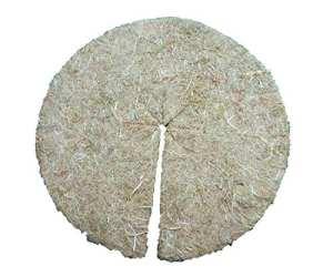 Disque de paillage en fibres de chanvre, mulch-disk, 50 pièces, diamètre : 98 cm, 5 mm d'épaisseur, tapis de protection des plantes, tapis de protection contre les mauvaises herbes, tapis de protection pour l'hiver, 100 % biodégradable, fabriqué à partir d'une matière première renouvelable, écologique et locale, convient aux parterres et pots de fleurs