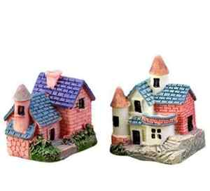 LCsndice Miniature Fée Jardin Mini Brique Villa Maison Ornement Dollhouse Plante en Pot Figurine DIY en Plein Air Décor À La Maison Décoration