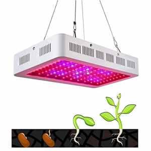 Le panneau de LED élèvent la lumière, légumes et fleurs de plante à double puce 1500W pour les plantes hydroponiques à effet de serre d'intérieur Veg et fleur, croissance de plantule, fleurs et herbes