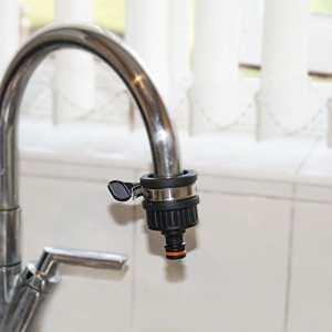 Raccord universel pour robinet 2,5cm Adaptateur de fixation à clipser pour tuyau de jardin