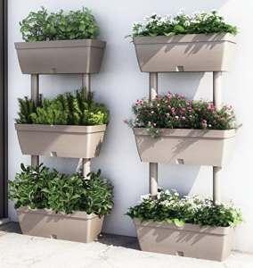 Support avec jardinières»Lolego» Kit 3(4 pièces)