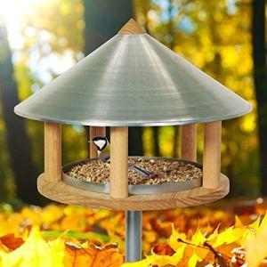 Voss.garden Mangeoire pour Oiseaux « Roskilde », Maisonnette en Design Danois Exclusif, 155 cm de Haut, diamètre 40 cm