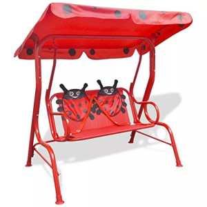 Zora Walter D&S Vertriebs GmbH Rocking Chair Balancelle pour Enfant avec Toit Pare-Soleil intégré Rouge