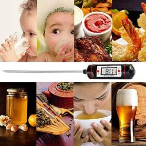 ZREAL Sonde alimentaire numérique Thermomètre Stylet style cuisine BBQ salle à manger Outils Température Budget Thermomètre cuisson termom eter