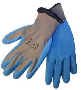 Azusa Safety 120paires, revêtement en latex travail Gloves- naturel calibre 13Gris/Bleu Nylon, paume en latex (Taille M) par AZUSA de sécurité