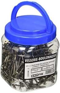 Batifix VTS5X50 Seau de 400 Vis pour lame de terrasse Inox A2 ø 5 x 50 mm