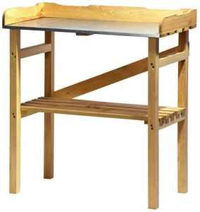 dobar 29052FSC table de plantation robuste FCS imprégné de pin FSC, 40 x 86 x 80 cm