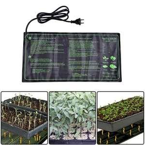 fastar semis Tapis chauffant, 18W IP67étanche hydroponique semis Plante Tapis chaud hydroponique avec coussin chauffant pour intérieur ou extérieur semis germination, 25,4x 52,7cm