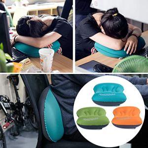 LasVogos Oreiller Gonflable extérieur Ultra léger d'oreiller de CampingTravel d'air de Portable, Bleu