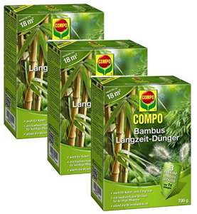 Laurier Cour® Set économique: 3x Compo Engrais longue durée pour bambou, 700g + Gratuit Cour Flyer Laurier