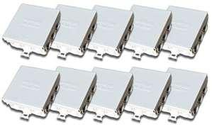 Protec.class Lot de 10boîtes de raccordement/ de dérivation IP5585x 85x 37mm pour pièces humides