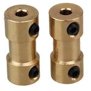 Provide The Best Laiton doré Rigide Adaptateur Arbre connecteur de couplage Coupler Moteur Transmission connecteur avec clé