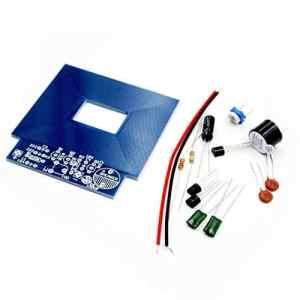 Sairis Détecteur de métaux Simple Localisateur de métaux Production électronique DC Kit 3V - 5V DIY Matériaux écologiques (Bleu)