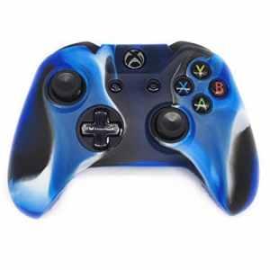 Sansee Accessoires Boîtiers Boîte Sac Couverture Souple en Silicone de Grande qualité pour Manette Xbox One sans Fil Bleu