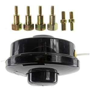 Spares2go Tête de bobine de fil rechargeable universelle à double ligne – Pour débroussailleuses et élagueuses à essence (assemblage standard)
