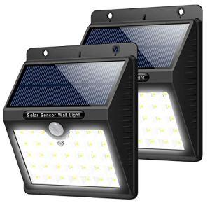 Trswyop Lampe Solaire Extérieur, [2 Pack] 33 LED Eclairage Solaire Puissant Detecteur de Mouvement 3Modes Intelligents Etanche IP65Eclairage Mural SansFilLumièreSolaire SécuritéJardin Patio